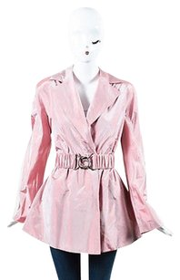 Akris Nylon Iridescent Wrap Belted Pink Jacket