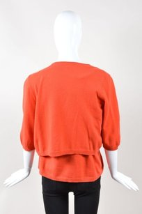 Akris Orange Cashmere Sweater