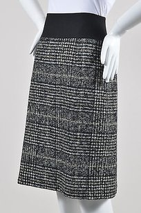 Akris Punto Black White Brown Skirt Gray