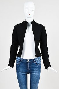 ALAA Alaia Wool Zip Front Black Jacket