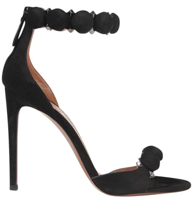 f095c5467a7b ALAÏA Black New Studded Suede 4.5 Inches 110mm Inches 110mm Inches 110mm  Sandals