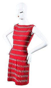 ALAA Alaia Red Cut Out Dress