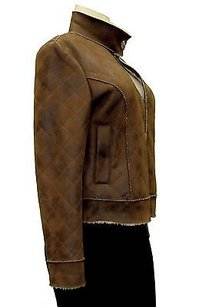 Alberto Makali Quilted Faux Leathershearling 170080bjb Brown Jacket