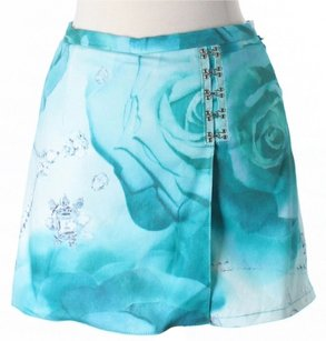 Alberto Makali Active Floral Mini Skirt Blue & White
