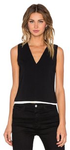 A.L.C. Alc Lou Stretch Crepe V Top Black