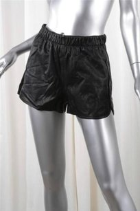 A.L.C. Womens Casual Leather Shorts Black