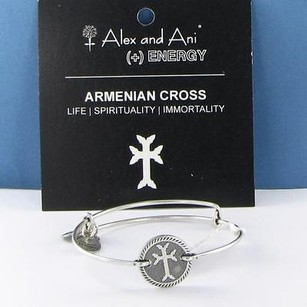 Alex and Ani Alex Ani Armenian Cross Horizontal Bracelet Russian Silver Retired