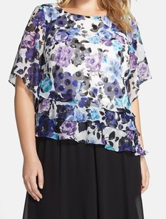 Alex Evenings 100% Polyester 3/4 Sleeve Top