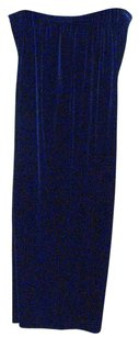 Alex Evenings 18w Solid Polyester Wide Leg Pants Navy Blue