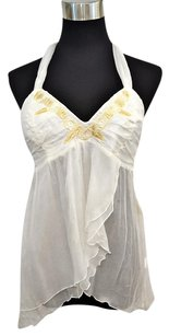 Alexander McQueen Silk Top cream