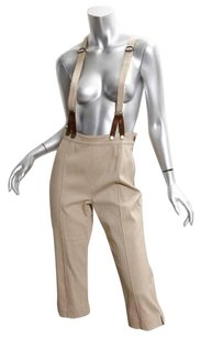 Alexander McQueen Womens Cropped Suspender Trousers 428 Capri/Cropped Pants Khaki