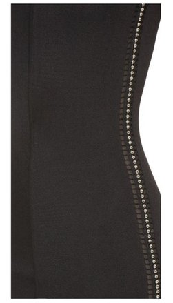 Alexander Wang Tank Stretch Knit With Perforated Ball Chain Trim Dress - 69% Off Retail on sale