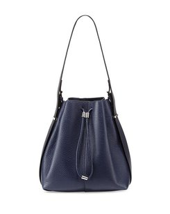 Alexander Wang Leather Metallic Hardware Luxury Bucket Shoulder Bag