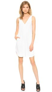 Alexander Wang short dress White T By Crepe Slinky V Neck Strap Sleeveless Shift 2s on Tradesy