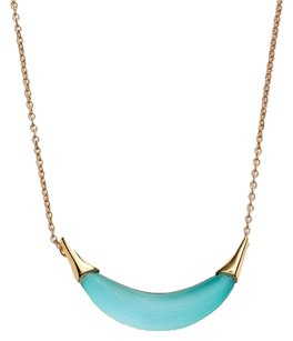 Alexis Bittar NEW! Alexis Bittar Teal Blue Lucite Gold Tone Pendant Necklace