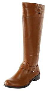 Alfani Womens Man Made brown Boots