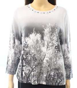 Alfred Dunner 3/4 Sleeve 86760 Sweater