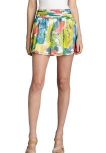 Alice + Olivia Silk Floral Mini Skirt Multiple
