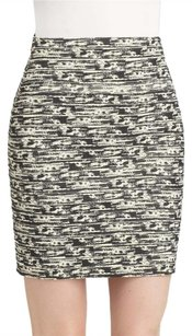 Alice + Olivia Bodycon Striped Date Night Night Out Mini Skirt Black, Ivory