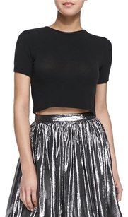 Alice + Olivia Short Sleeve Crewneck T Shirt black