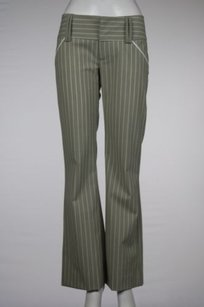 Alice + Olivia Womens Dress Striped Wool Career Trousers Pants