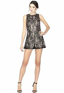 Alice + Olivia Black Nude Lace Dress