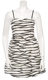 Alice + Olivia Silk A-line Monochrome Edgy Dress