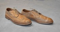 B6 Allen Edmonds Banchory Tan Leather Wing Tip Oxfords Shoes