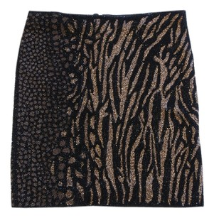 AllSaints Beaded Embellished Skirt Black