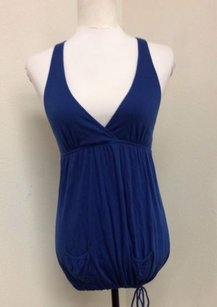American Eagle Outfitters Jr Blue Halter Top