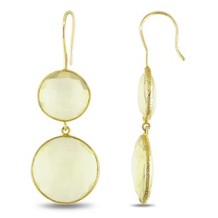 Amour 22k Yellow Gold Plated Goldtone Ct Tgw Synthetic Lemon Quartz Hook Earrings