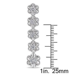 Amour Amour 14k White Gold 78 Ct Tdw Diamond Dangle Earrings G-h Si1-si2