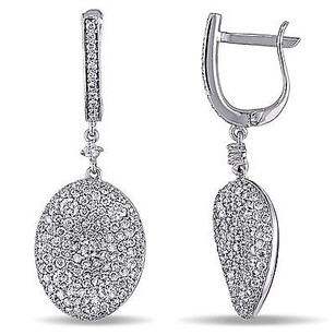 Amour Amour 18k White Gold 45 Ct Tdw Diamond Earrings G-h Si1-si2