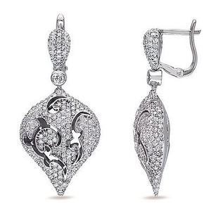 Amour Amour 18k White Gold Ct Tdw Diamond Earrings G-h Si1-si2
