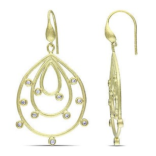 Amour Amour 18k Yellow Gold-plated Cz Dangle Hook Drop Dangle Earrings