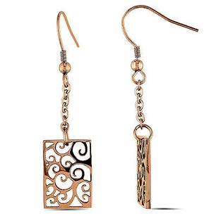 Amour Amour Stainless Steel Dangle Earrings
