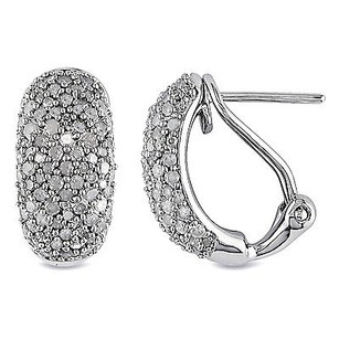 Amour Amour Sterling Silver 1 Ct Tdw Diamond Endless Stud Earrings I-j I2-i3