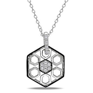 Amour Amour Sterling Silver 110 Ct Tdw Diamond Pendant Necklace H-i I2-i3 18