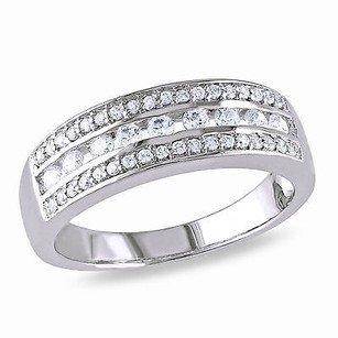 Amour Amour White Gold Over Silver Cubic Zirconia Band-style Eternity Ring