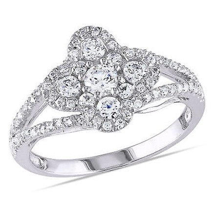 Amour Amour White Gold Over Silver Cubic Zirconia Fashion Cocktail Ring