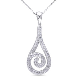 Amour Sterling Silver 1 13 Ct Tgw Cubic-zirconia Fashion Pendant Necklace 18 Chain