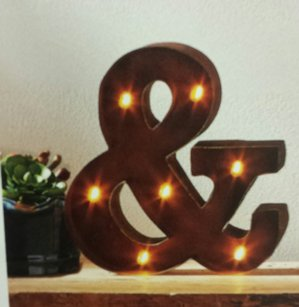 Ampersand Marquee Lighted Sign Rustic Rust Marquee Letter And Symbol