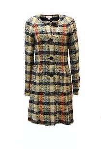 Amy Matto Plaid Tweed Lightweight Coat 230102f Multi color Jacket