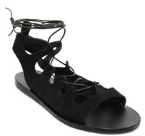Ancient Greek Sandals Black Sandals