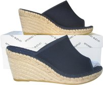 Andre Assous Wedge Espadrille Dark Blue Navy Wedges