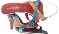 Andrew Geller red multi Mules