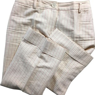 Ann Taylor Capri/Cropped Pants Pink / Cream