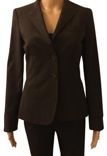 Ann Taylor Dark Brown With Stripe Blazer