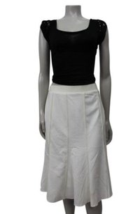 Ann Taylor Pintucked Winter Skirt White