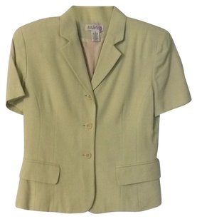 Ann Taylor Fully-lined Pockets Button Down Shirt lime